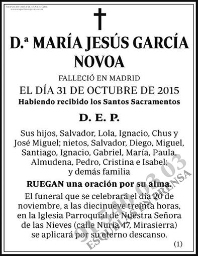 María Jesús García Novoa